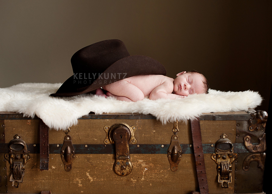 Montana cowboy • bozeman newborn photographer kelly kuntz photography